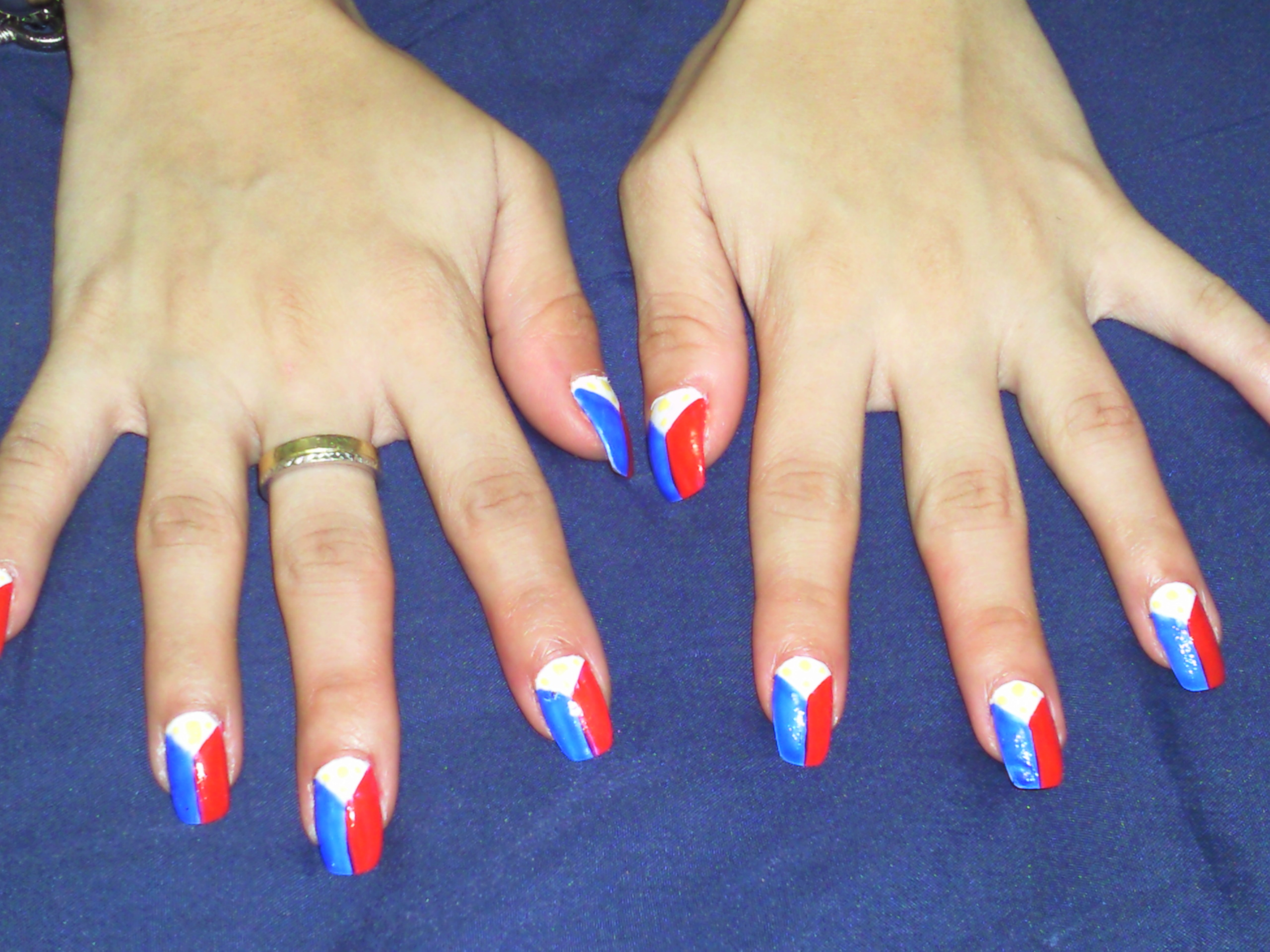 Philippine Flag Inspired Nail Art Porsches Diary